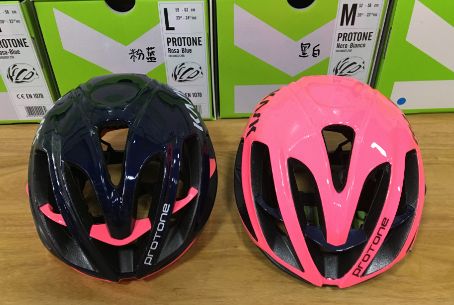 KASK Protone Pudong Ni Large Group Pneumatic Highway Professional Cycling Helmet Pink Dark Blue