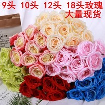 Multi-headed large bouquets of roses simulation rose fake flower wall decoration living room set up wedding road flowers