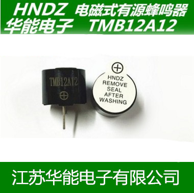 Huaneng Electronic Supply 12095 Active Buzzer TMB12A12V High Temperature Resistant DC Buzzer
