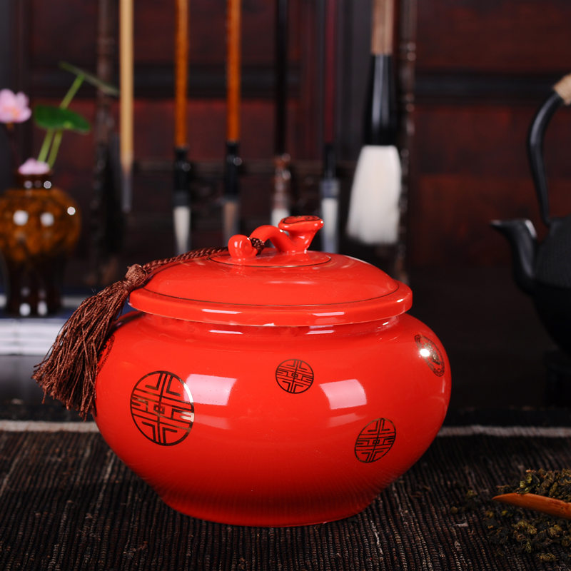 Tea pot, ceramic ware, scented tea waking pot, Jingdezhen ceramic pot, size sealed pot, red tea pot, package mail
