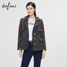 He Sui shopping mall's same Ifly 2019 new autumn one button suit coat for women 1a9110551