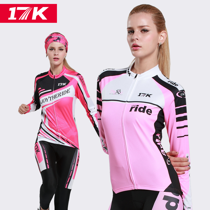 17K Jersey Women's suits spring and summer long sleeves mountain bike bicycle riding pants sunscreen quick-drying clothes