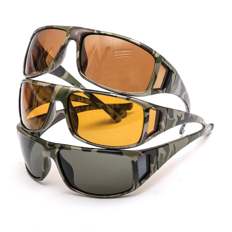 Camouflage Polarized Glasses Fishing Mirror Polarized Sunglasses Outdoor Glasses