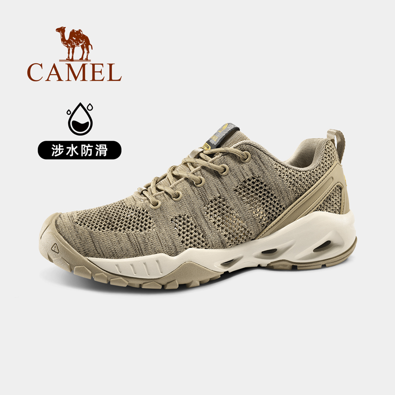 Camel outdoor shoes mens 2021 spring new anti-slip breathable mesh cloth casual shoes mens light comfortable back to the stream shoes