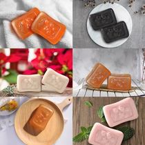 (official boxed) Taiwan brown Fruit soap Genuine man and five-lines soap handmade soap large soap 4 pieces paired with 100g
