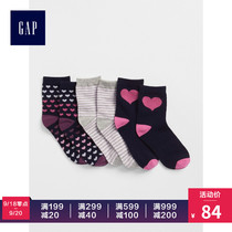 Gap Girl Heart pattern Sailor socks Three double pack 372713 2018 Autumn outfit New