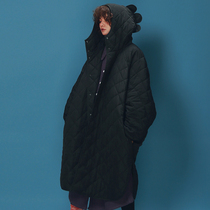 Hippie journey original winter coat new cotton coat female black wild Lingge padded warm hooded cotton suit