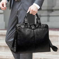 Korean business briefcase messenger bag handbag shoulder bag oblique cross bag man bag men's casual bags
