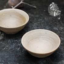 Yunnan handmade embryo sand bowl glazed pottery bowl thick pottery Bowl farm antique wind film shooting props