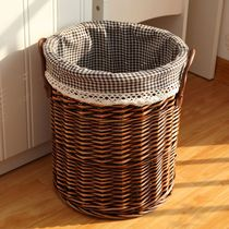 Dirty clothes Basket Counters Genuine rattan wicker storage bucket Storage basket Storage Baskets Dirty trash laundry basket