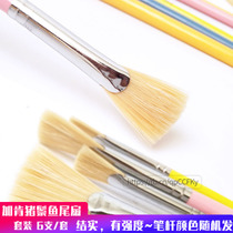 6 Plus Ken bristles hairy fishtail fan pen color pen water powder Acrylic Oil brush