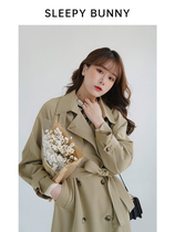 Sleeping Rabbit The Direction of the Wind is high and thin casual windbreaker female long coat small man British style