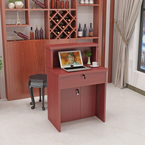 Clothing store checkout counter barber shop simple modern front desk bar table checkout small shop