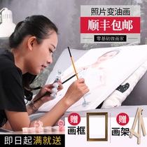 Diy Digital Oil Painting Customized Painting Hand Painting Painting Painting Self-Photo Watercolor Decoration for Special Price