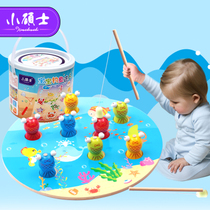 Little Master fishing toy Child boy baby girl puzzle wooden Magnetic baby child wooden 2-3 years old