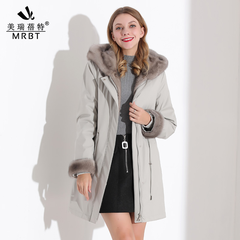 Mink fur womens whole short style to overcome womens fashion detachable inner bile to overcome fur one-size-fits-all coat