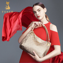Golden Fox ladies leisure leather handbag for European and American fashion