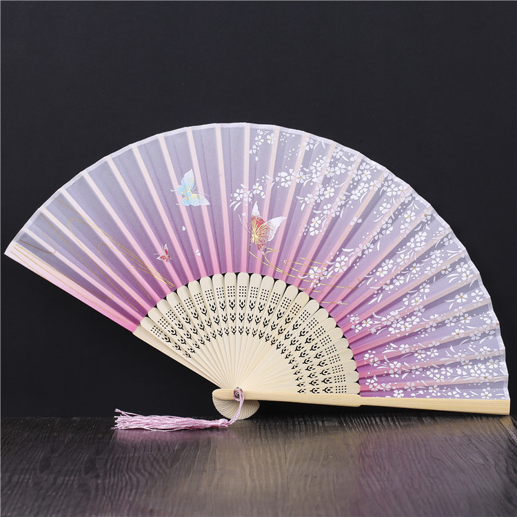 Chinese Classical Folding Fan Children's Small Fan Photographic Projects for Daily Walking Show with Cheongsam