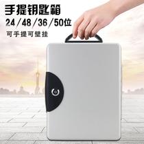 Key box Wall-mounted Car key storage box Home key management box Intermediary hand-held key cabinet with lock