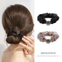 Temperament head rope women 2021 New Korean version of net Red large intestine Hairband Balls Head hair hair accessories tie hair
