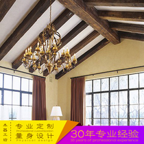 Solid wood simple style retro nostalgic fake beam decoration professional custom-made square beam environmental protection log ceiling solid wood beam