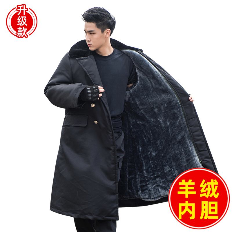 Military cotton coat men thick winter cold-proof clothing long black green northeast cotton wool labor protection cotton clothing security cotton clothing