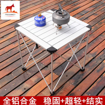 Outdoor folding tables and chairs all aluminum alloy super portable picnic table self driving tour barbecue table car stall table