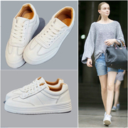 White shoes spring 2017 new all-match Korean fashion shoes female nurse students size flat shoes