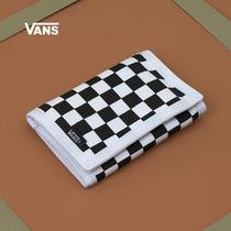 Ванс Ванс мужчины и женщины кошелек Trend Acc новый черно-белый шахматная доска официальный подлинный