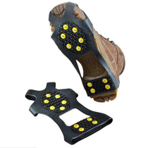 Outdoor skiing anti-skid light shoe set 10-toothed outdoor ice claw mountaineering through the snow hike
