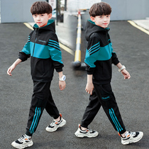 Childrens clothing boys spring and autumn Clothing Set 2019 new 2020 spring sports boy Korean version of the Big childrens foreign wave