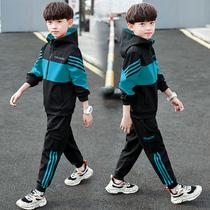 Детская одежда для мальчиков весенняя и осенняя одежда 2019 новая весна 2020 спортивная одежда для мальчиков корейская версия большая детская океанская волна