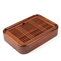 Huali wood small kungfu tea set water storage small tray black sandalwood solid wood Mini tea table office personal tea sea