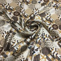 100% pure mulberry silk silk silk silk silk satin beige ancient group flower pattern scarf shirt fabric
