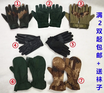 03 07 inner gloves olive green gloves autumn and winter cold cotton gloves outdoor riding training camouflage gloves