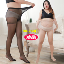 Extra-large stockings 200 pounds fat mm anti-hook silk summer ultra-thin models do not fall out of gear pantyhose lengthened plus fat increased
