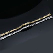 Hao-Hao steel strap steel solid stainless steel strap gold lady 9mm watch chain Watch accessories