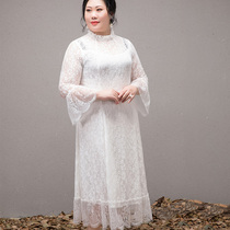 Ladies slim slimming in autumn and Winter Palace vintage lace dress