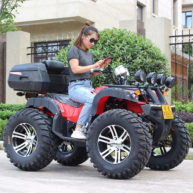 Size beach bike double gasoline four-wheeled off-road motorcycle two-way axis drive adult mountain bike