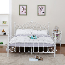 Modern minimalist wrought iron princess bed wrought iron bed 1 2 m single bed children 1 5 M 1 8 m double iron bed