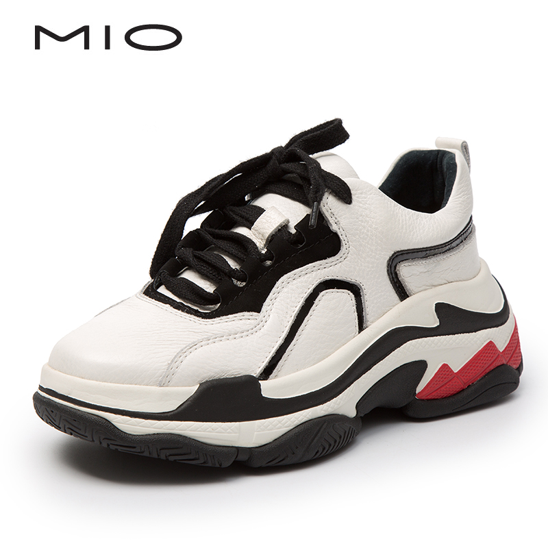 MIO Mio women's shoes 2018 autumn new fashion comfortable thick-soled old shoes women's sports shoes M184503408