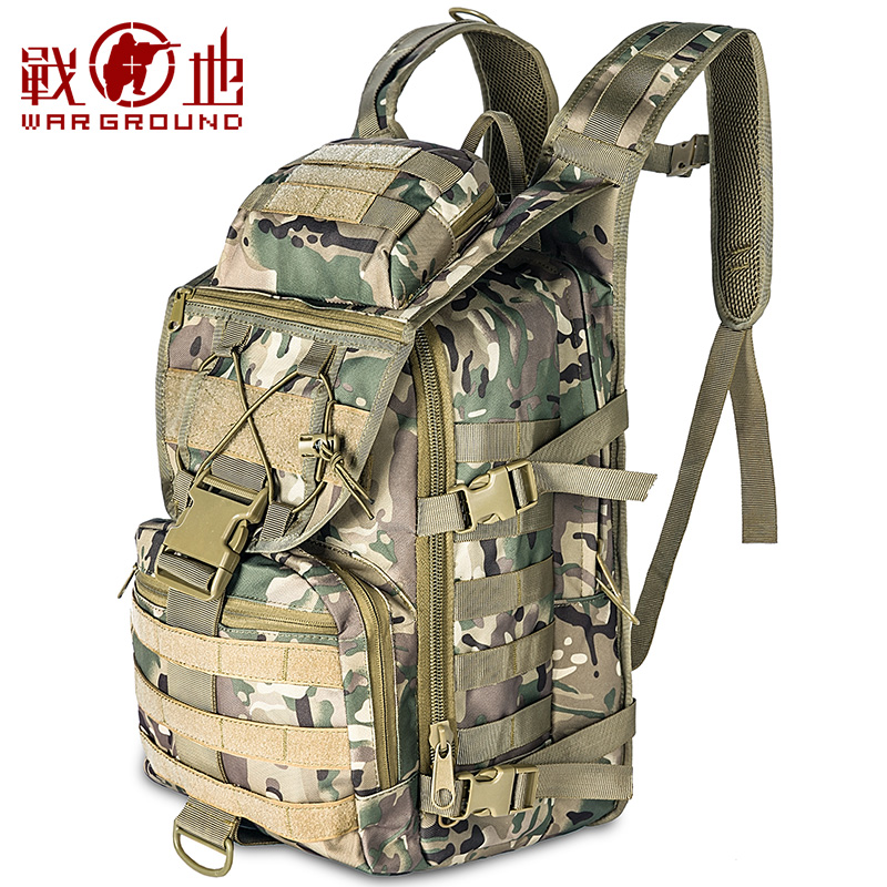 Battlefield Mountaineering Bag Shoulder Bag Male Travel Bag Outdoor Tactical Bag Multifunctional Waterproof Camouflage Cycling Computer Backpack