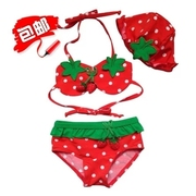 Children's bathing suit girl baby strawberry split Bikini Bathing Suit beach baby bathing suit