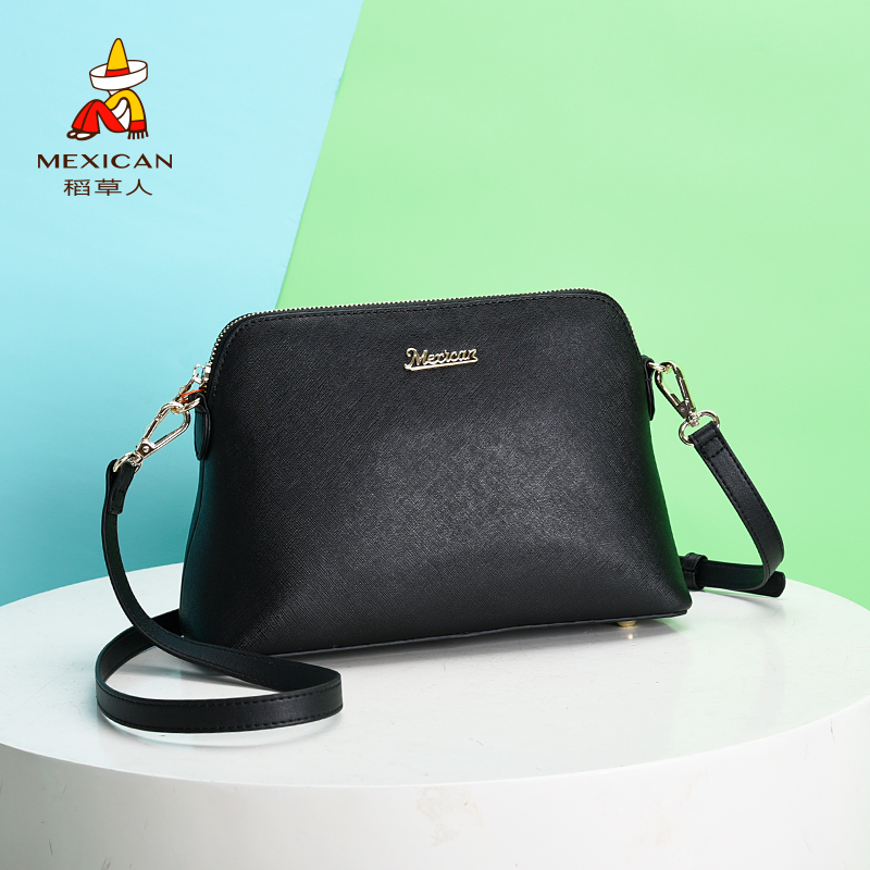 Scarecrow Women's Bag 2019 New Bag Women's Cross-grain Fashion Korean Version Baitie One Shoulder Slant Bag Small Bag Occidental Style
