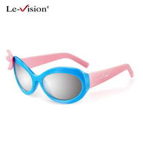 Childrens 3d glasses film special College YouTube round polarized stereo 3d TV Universal Children three D