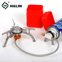 Outdoor camping stove split stove head Picnic long gas flat gas stove portable stove head with electronic fire.