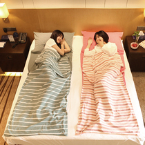 Business sleeping bag dirty cotton travel hotel Adult indoor hotel Double bed single Women Portable Tour