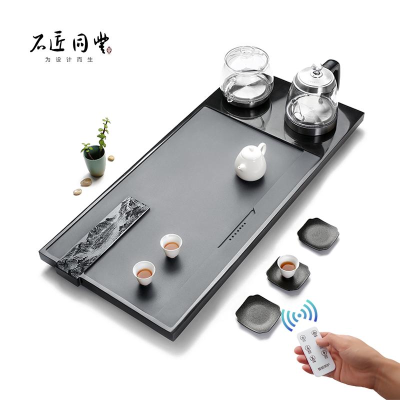 Tea table kettle Wujin stone tea plate set fully automatic all-in-one household induction cooker stone kung fu tea set tea sea