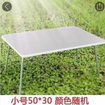 Home stacked table portable simple dining table modern simple round table new small family round convenient dining table