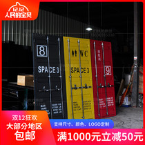 Iron Container Door KTV Restaurant bar toilet door push and pull door opening industrial wind bathroom door Retro
